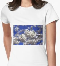 Cherry Tree Blossoms Women's Fitted T-Shirt