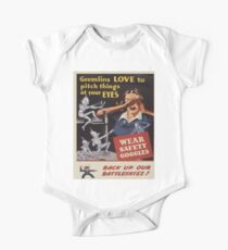 Vintage poster - Workplace safety Kids Clothes