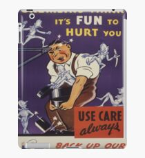 Vintage poster - Workplace safety iPad Case/Skin