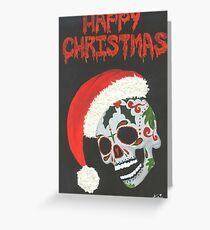 Sugar Skull- Happy Christmas Greeting Card