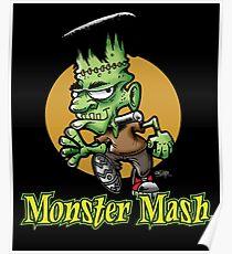 Frankenstein Monster Mash Halloween Poster