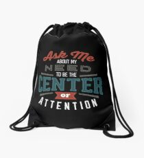 Center of Attention Drawstring Bag