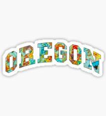 Oregon Collegiate Tropical Sticker