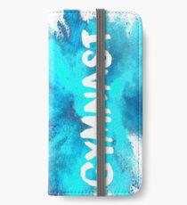 Vinilo o funda para iPhone Gimnasta - Explosión azul