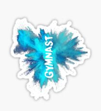 Gymnast - Blue Explosion  Sticker