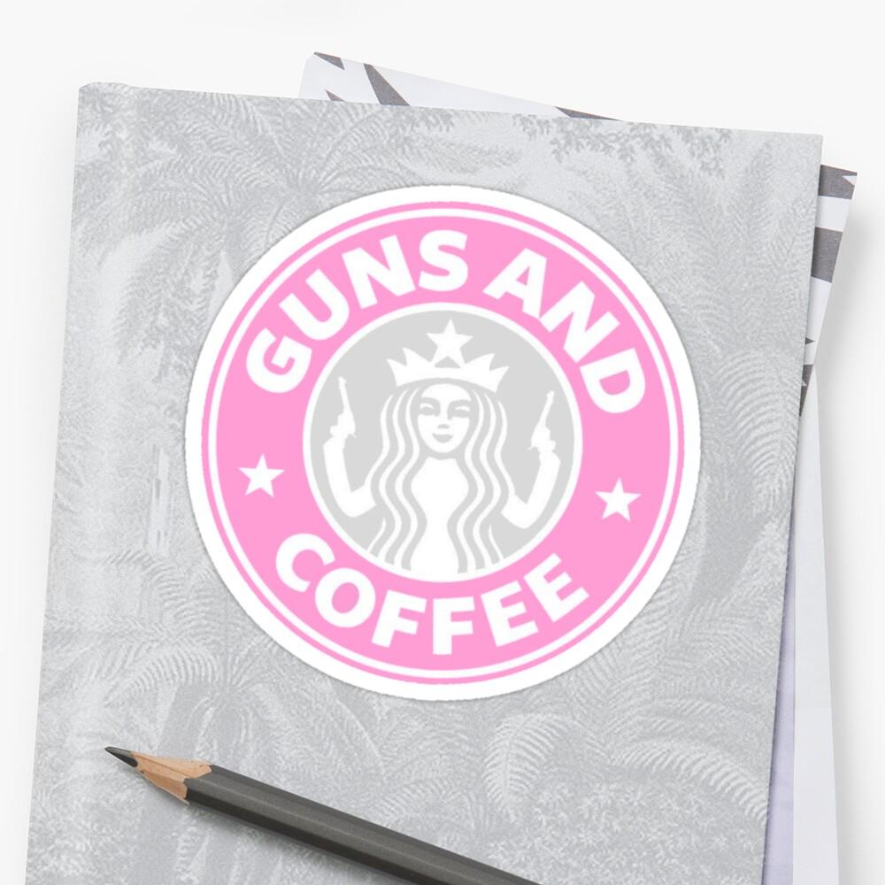 Devant Sticker ''Guns et café'