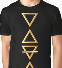 Alchemy Symbols Fire Water Air Earth Graphic T-Shirt