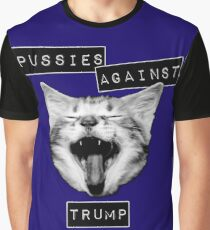 Pussies Against Trump Grey Graphic T-Shirt