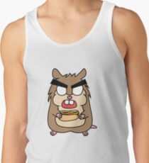 angry zombie hamster with a hotdog Tank Top