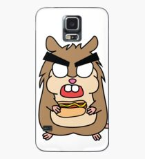 angry zombie hamster with a hotdog Case/Skin for Samsung Galaxy