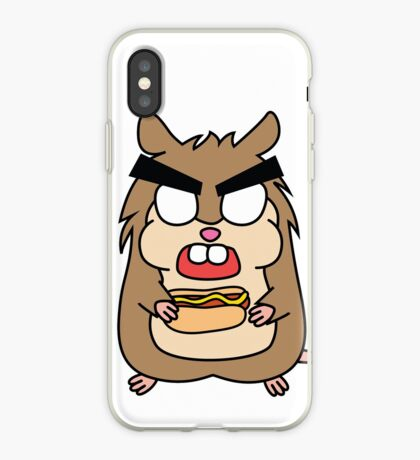 angry zombie hamster with a hotdog iPhone Case