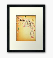 Blossoms & Butterflies Framed Print