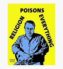 Christopher Hitchens Poison Photographic Print