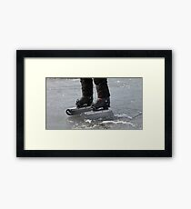 giant Ice Skate Framed Print