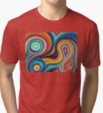 Swirly Colors Tri-blend T-Shirt