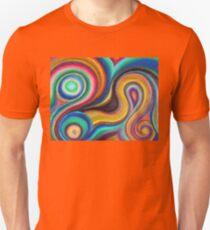 Swirly Colors Unisex T-Shirt
