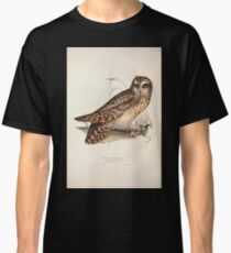 John Gould The Birds of Europe 1837 V1 V5 040 Short Eared Owl Classic T-Shirt