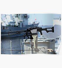 Machine gun Kalashnikov Poster
