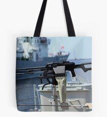 Machine gun Kalashnikov Tote Bag