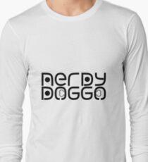 Nerdy Doggo Stickers Long Sleeve T-Shirt