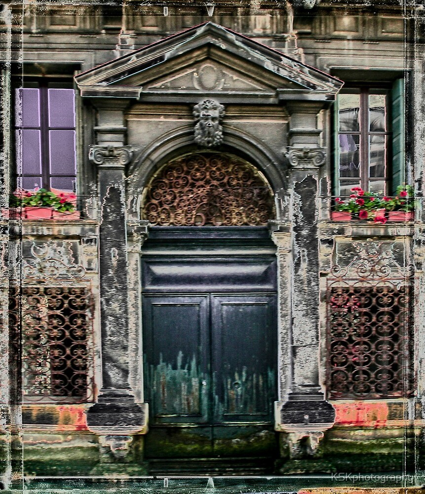 Door on Venice Canal  by KSKphotography