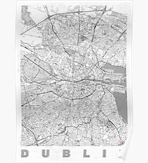 Dublin Map Line Poster