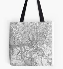Hamburg Map Line Tote Bag