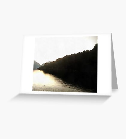 Shores Of Darkness Greeting Card