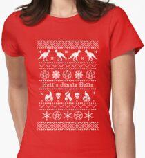 Hell's Jingle Bells Tailliertes T-Shirt für Frauen