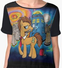 Doctor Whooves - Galaxy Women's Chiffon Top