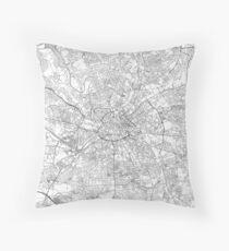 Manchester Map Line Throw Pillow