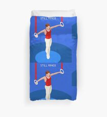 Gymnastics Still Rings  Duvet Cover