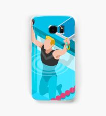 Swimming Isometric Vector Samsung Galaxy Case/Skin