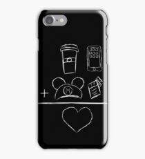 Coffee Ears FP Phone Equals Love iPhone Case/Skin