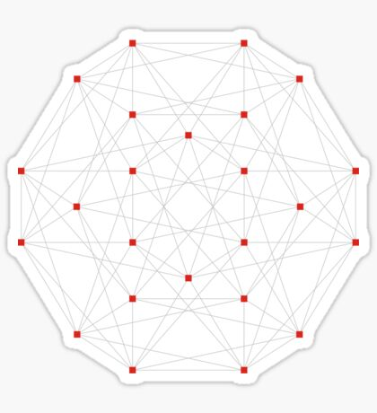 24 Cell Polytope Sticker