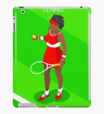 Tennis Player Vector Isometric iPad Case/Skin