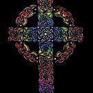 Rainbow Celtic Cross by Rose Gerard