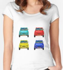 Vintage compact cars #2 Women's Fitted Scoop T-Shirt