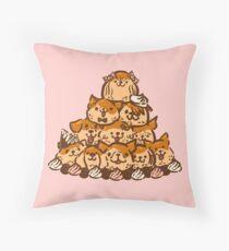 Croquempooche Throw Pillow