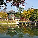 Hyangwonjeong Pavilion in Autumn by TonyCrehan