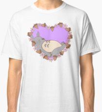Sleeping Totoro - Purple Classic T-Shirt
