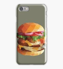 Gourmet Burger Polygon Art iPhone Case/Skin