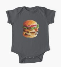 Gourmet Burger Polygon Art Baby Body Kurzarm