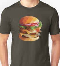 Gourmet Burger Polygon Art Unisex T-Shirt