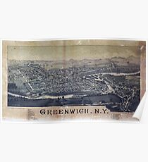 Aerial View of Greenwich, New York (1885) Poster