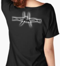 Barbed Wire, WAR, Barrier, Fence, Conflict, WW1, WWii, Women's Relaxed Fit T-Shirt