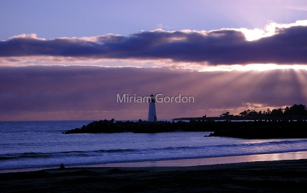 Sunset From Twin lakes Beach by Miriam Gordon