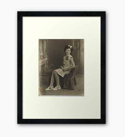 Mom's H.S. Graduation Pic  Framed Print