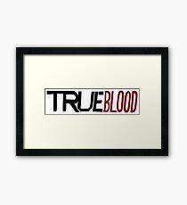 true blood Framed Print