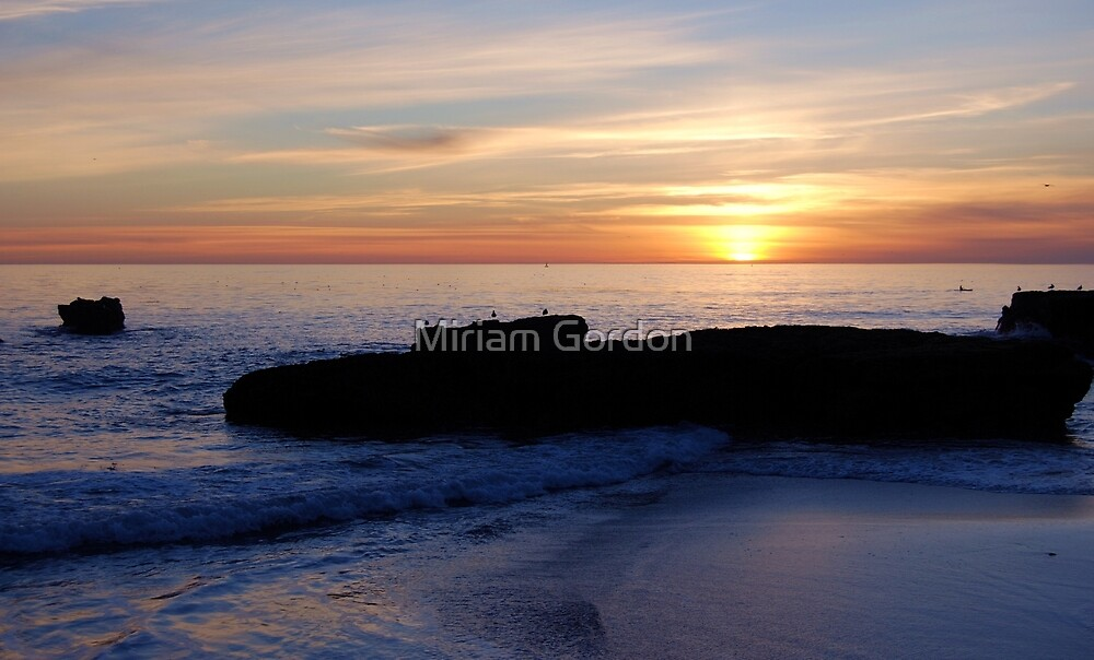 Sunset from the Rocks I by Miriam Gordon